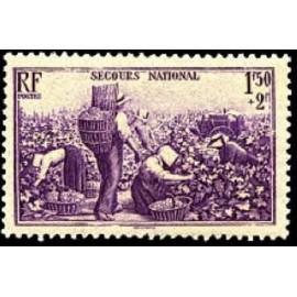 France num Yvert 468 ** MNH Vendanges Vin  Année 1940