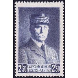 France num Yvert 473 ** MNH Marechal Année 1941
