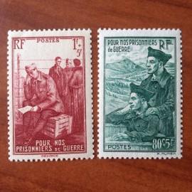 France num Yvert 474-475 ** MNH Prisonniers  Année 1941