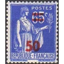France num Yvert 479 ** MNH surchargé Paix Année 1941