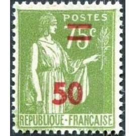 France num Yvert 480 ** MNH surchargé Paix Année 1941