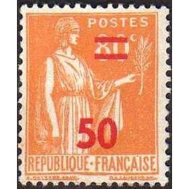 France num Yvert 481 ** MNH surchargé Paix Année 1941