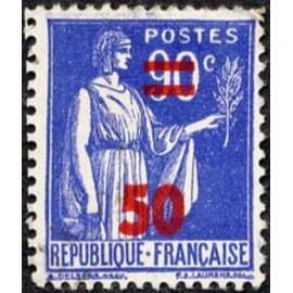 France num Yvert 482 ** MNH surchargé Paix Année 1941