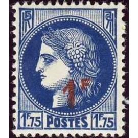 France num Yvert 486 ** MNH surchargé Ceres Année 1941