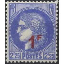 France num Yvert 487 ** MNH surchargé Ceres Année 1941