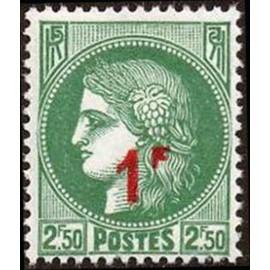 France num Yvert 488 ** MNH surchargé Ceres Année 1941