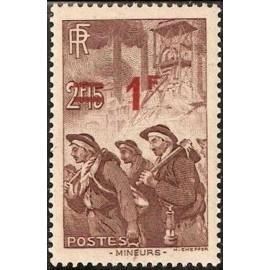 France num Yvert 489 ** MNH mineur surcharge Année 1941