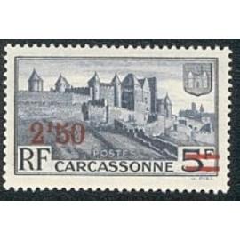 France num Yvert 490 ** MNH Carcassonne surchgé Année 1941
