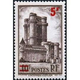 France num Yvert 491 ** MNH Vincennes surchargé Année 1941