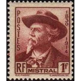 France num Yvert 495 ** MNH Fred Mistral Année 1941