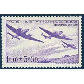 France num Yvert 540 ** MNH Avion  Année 1942