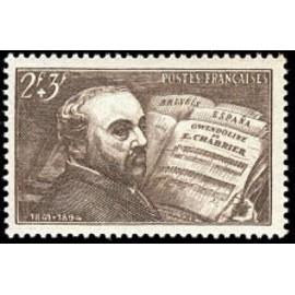France num Yvert 542 ** MNH Chabrier Piano Année 1942