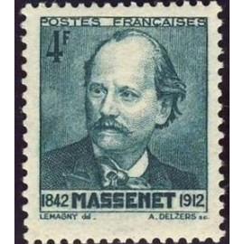 France num Yvert 545 ** MNH Compositeur J Massenet Année 1942