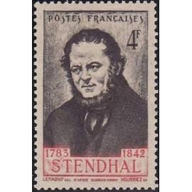 France num Yvert 550 ** MNH Stendhal Année 1942