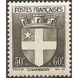 France num Yvert 553 ** MNH Armoiries  Chambery Année 1942
