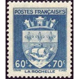 France num Yvert 554 ** MNH Armoiries  La Rochelle Année 1942