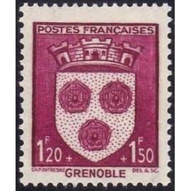 France num Yvert 557 ** MNH Armoiries  Grenoble Année 1942