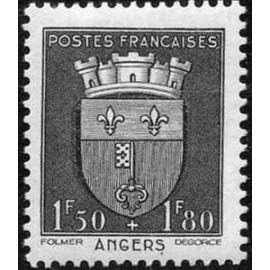 France num Yvert 558 ** MNH Armoiries  Angers Année 1942