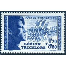 France num Yvert 565 ** MNH Legion tricolore Année 1942