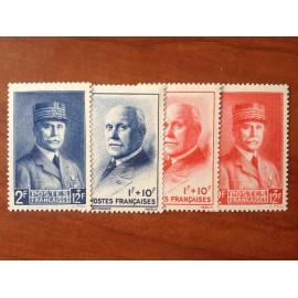 France num Yvert 568-571 ** MNH Secours National Année 1943