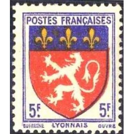 France num Yvert 572 ** MNH Armoiries Lyon Année 1943
