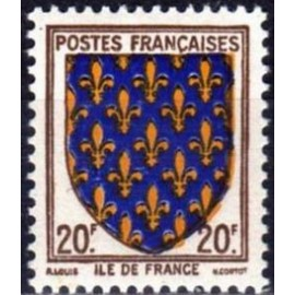 France num Yvert 575 ** MNH Armoiries Ile de France Année 1943