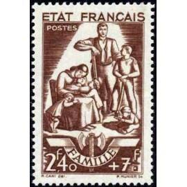 France num Yvert 578 ** MNH  Année 1943