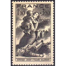 France num Yvert 584 ** MNH  Année 1943