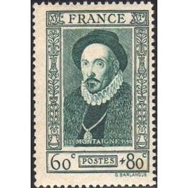 France num Yvert 587 ** MNH Montaigne Année 1943