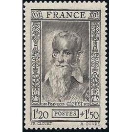 France num Yvert 588 ** MNH Clouet Peintre Année 1943