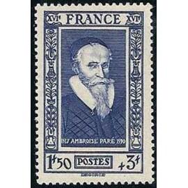 France num Yvert 589 ** MNH Ambroise chirurgien Année 1943