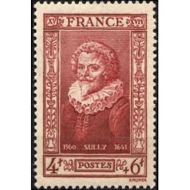 France num Yvert 591 ** MNH duc de Sully Année 1943