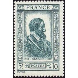 France num Yvert 592 ** MNH Henri IV roi Année 1943
