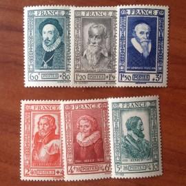 France num Yvert 587-592 ** MNH Célébrités Année 1943