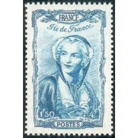 France num Yvert 595 ** MNH Coiffe Ile de France Année 1943
