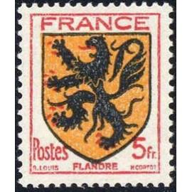 France num Yvert 602 ** MNH Armoiries Flandre Année 1944