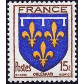 France num Yvert 604 ** MNH Armoiries Orleannais Année 1944