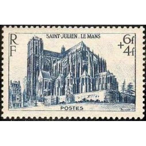 France num Yvert 775 ** MNH Le Mans Année 1947