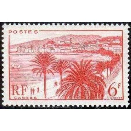 France num Yvert 777 ** MNH Croisette Cannes Année 1947