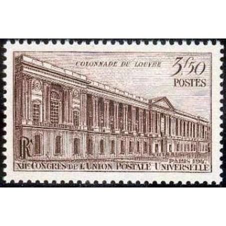 France num Yvert 780 ** MNH Louvre Année 1947
