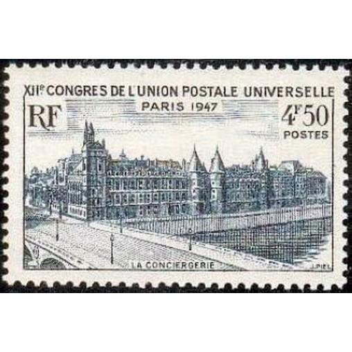 France num Yvert 781 ** MNH Paris conciergerie Année 1947