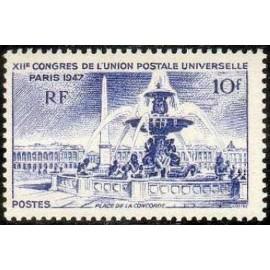 France num Yvert 783 ** MNH Paris Concorde Année 1947