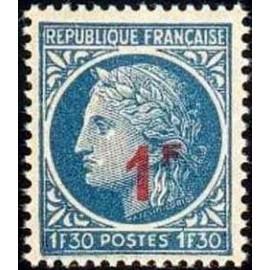 France num Yvert 791 ** MNH ceres surchargé 1 Année 1947