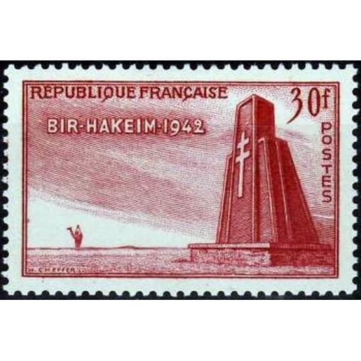 France num Yvert 925 ** MNH Bir Hakeim Année 1952