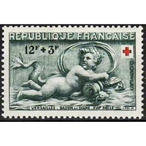France num Yvert 937 ** MNH croix rouge Année 1952