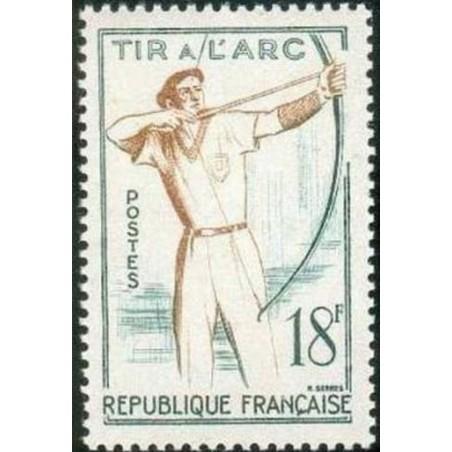 France num Yvert 1163 ** MNH Tir à L'arc Année 1958