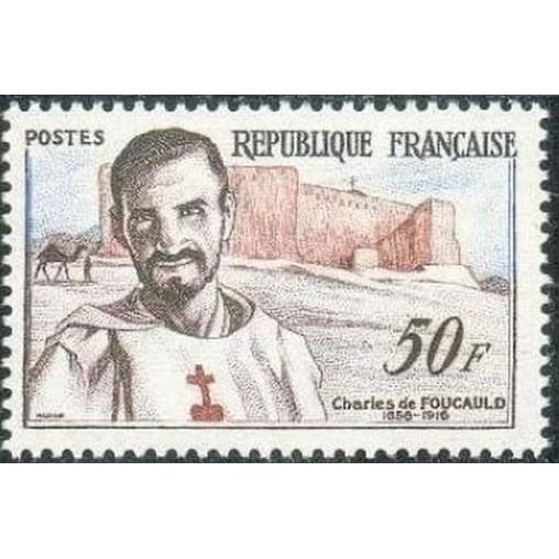 France num Yvert 1191 ** MNH Charles de Foucault Année 1959