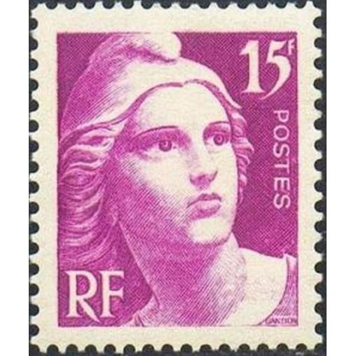 France num Yvert 727 ** MNH Marianne de Gandon Année 1945