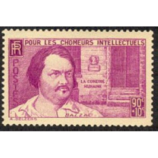 France num Yvert 438 ** MNH Balzac Année 1939