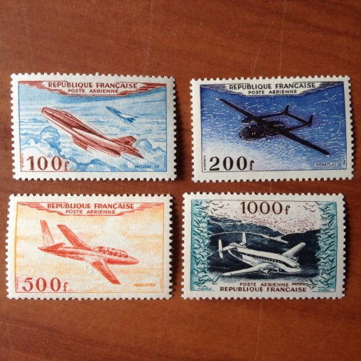 France PA Avion Num Yvert 30-33** MNH Prototypes